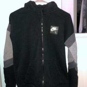 black NIKE AIR zip up sweatshirt